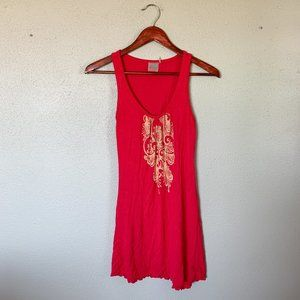 Athleta Red Paisley Print Dress